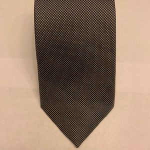NWOT 100% Silk Black and White Checkerboard